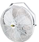 J&D Manufacturing POW18 Indoor/Outdoor UL507 Certified Mount Fan, 18' Diameter, 1/8 hp, 115V, 1 Phase, 8' Cord, White