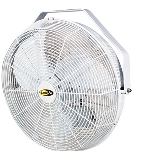 J&D Manufacturing POW18 Indoor/Outdoor UL507 Certified Mount Fan, 18'' Diameter, 1/8 hp, 115V, 1 Phase, 8' Cord, White by J&D Manufacturing