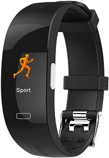 P3 Color Screen Blood Pressure Smart Band Heart Rate Monitor PPG ECG Smart Bracelet Activit Fitness Tracker Smart Wristband,Black