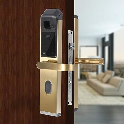 Fingerprint Festnight Door Lock Digital Karte 4 in 1 Smart Lock T/ürschl/össer F/ür Zuhause B/üro Hotel Villa Passwort Schl/üssel
