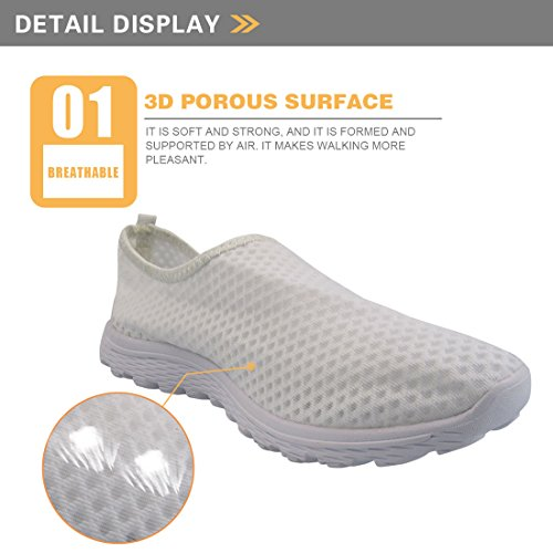 Showudesigns Summer Go Easy Walking Sneaker Slip On Mesh Flat Shoes for Women Teen Girl Color 2 NLz7pw8l