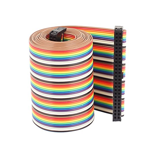 2.5' Color Lcd Monitor - Uxcell a16031600ux0787 Rainbow IDC Flat Ribbon Cable Connector, F/F, 50P, 50 Way, 1.28 m, 4.2', 2.54 mm Pitch
