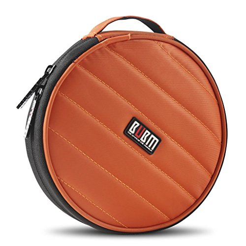 Scratch Resistant Dvd (BUBM Portable Round 32 CD Disc Storage Case Bag Heavy Duty CD/ DVD Wallet for Car, Home, Office and Travel (Orange))