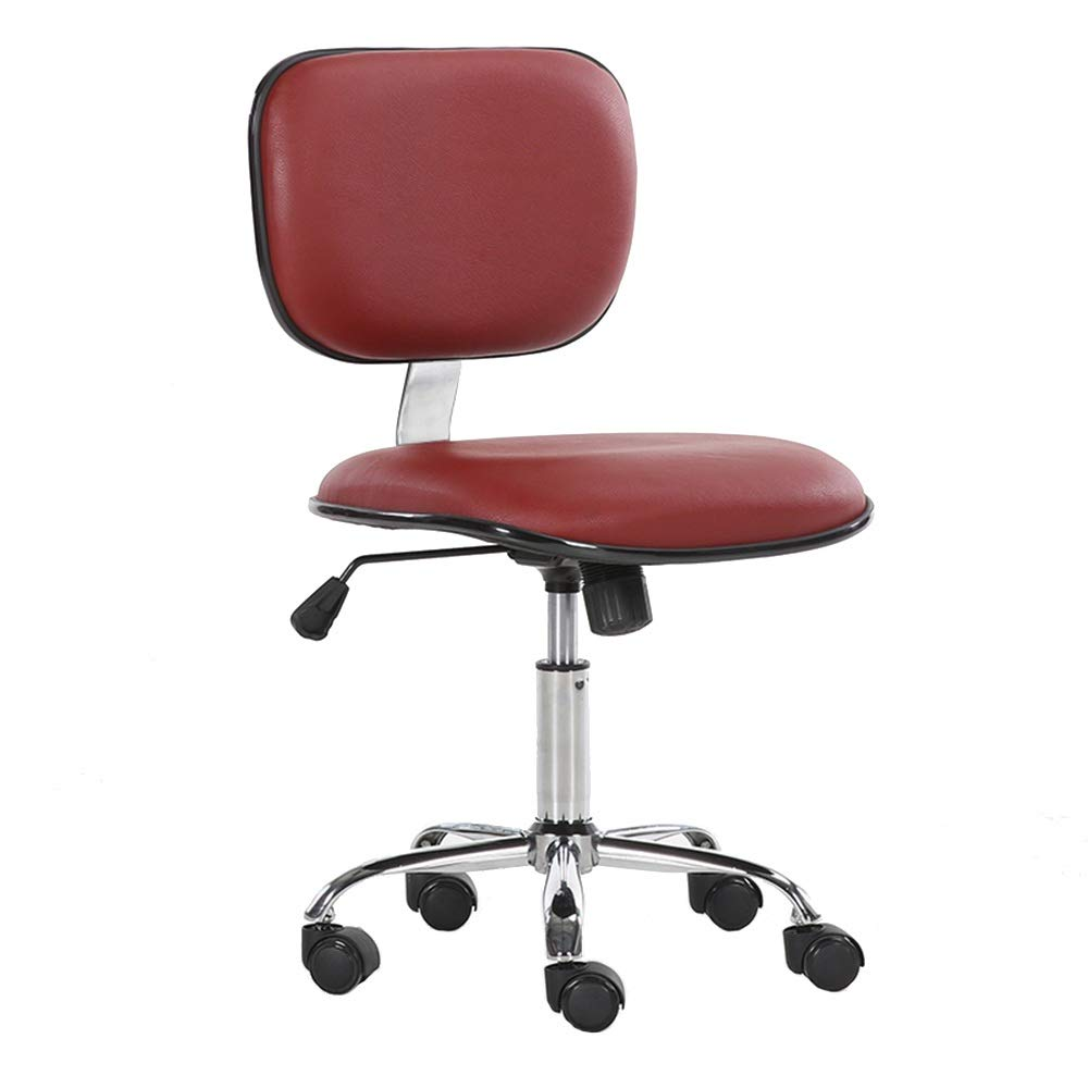 A ZZHF Swivel Chair, Computer Chair Household Company Staff Office Chair Student Dorm Room Study Small PU Chair Swivel Chair, 5 colors Lift Chairs, Backrest Chair (color   B)