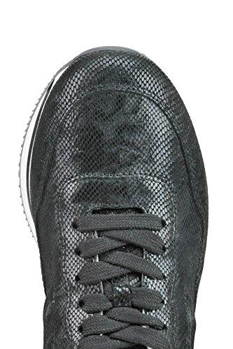 Hogan Femme MCGLCAK03033E Noir Cuir Baskets