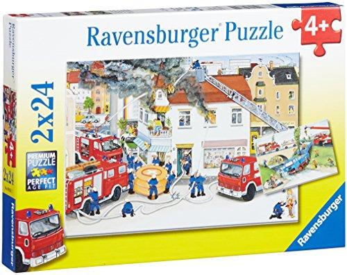 (Ravensburger Busy Fire Brigade Jigsaw Puzzle (2 x 24 Piece))
