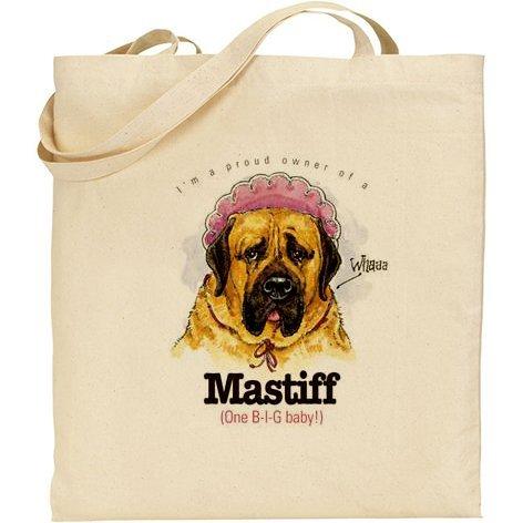 AB–spiritoso Mastiff Dog cotone naturale borsa