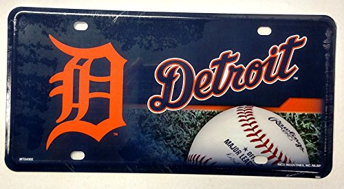 Detroit Tigers NEW DESIGN 4302 Metal Aluminum Novelty License Plate Tag Baseball