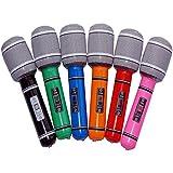 hinchable Micrófono, multicolor, ca 24cm