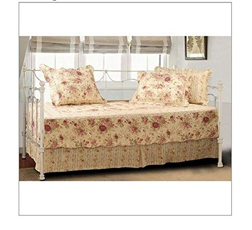CHOOSEandBUY Antique Rose Quilted Daybed Cover Bedding Ensemble Set 100-Percent Cotton face