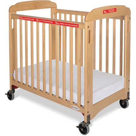 Foundations First Responder Evacuation Compact Clearview Fixed-Side Crib with Evacuation Frame - Crib Evacuation Frame