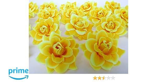 Amazon 50 Silk Yellow Roses Flower Head 175 Artificial