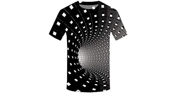 AG&T Camiseta Hombre Verano Manga Corta 3D Impresión Moda Camiseta Casual T-Shirt Blusas Camisas Camiseta Cuello Redondo Suave básica Camiseta Top: Amazon.es: Deportes y aire libre