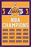 Los Angeles Lakers NBA Champions Sports Poster 22 x 34in