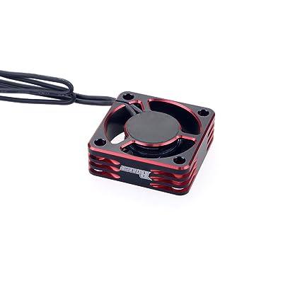 Rocket 30mm Cooling Fan 28000rpm 7.4V for HSP 1/10 1/8 1/12 RC car 540/550 Motor: Toys & Games