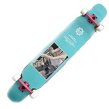 Skateboarding Skateboard Longboard Dance Board Doble Curva De Cuatro Ruedas Skateboard Street Street Wing Wood Snow Skateboard Deportes Al Aire Libre ...