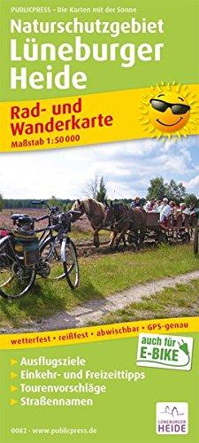 Naturschutzgebiet Lüneburger Heide: Rad- und Wanderkarte mit Ausflugszielen, Einkehr- & Freizeittipps, wetterfest, reissfest, abwischbar, GPS-genau. 1:50000 (Rad- und Wanderkarte / RuWK) Landkarte – Folded Map, 1. Februar 2018 PUBLICPRESS 3747300820 Br