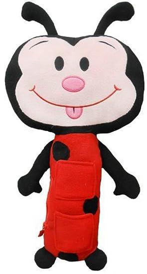 Seat Pets - Mariquita de peluche en rojo y negro para asiento de coche para niños