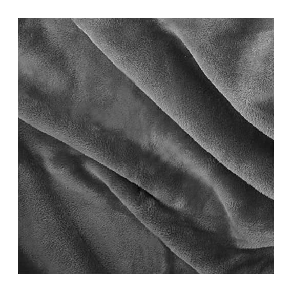 "Exclusivo Mezcla Large Flannel Fleece Velvet Plush Throw Blanket – 50"" x 70"" (Grey) - 280GSM FLANNEL FLEECE- The flannel fabric we choose is originally made from 100% microfiber polyester and brushed to create extra softness on both sides,the throw is designed to be simple but elegant EXTRA LARGE- This throw can be a very useful item to have on hand. Compare with standard size ones, this throw blanket measured by 50"" x 70"" suits better for adults. Enough weight to keep you comfortable, yet light enough to keep you from breaking out in sweat. VERSATILE- Made of premium flannel, this plush throw is super soft, durable, warm and lightweight. It's wrinkle and fade resistant, doesn't shed, and is suitable for all seasons. - blankets-throws, bedroom-sheets-comforters, bedroom - 51KaiNxMzLL. SS570  -"