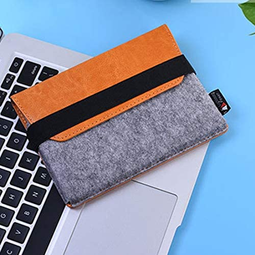EWUOI PU Lederen Beschermende Opbergtas Shell Bag Pouch Zachte Mouw Voor Apple Magic Trackpad Oranje Kleur Oranje