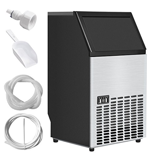 Price comparison product image Costzon Built-In Stainless Steel Commercial Ice Maker Portable Ice Machine Restaurant