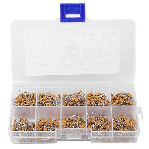 500pcs 10 Values 50V Multilayer Monolithic Ceramic Capacitor Assortment Kit Set 1nF/ 2.2nF/ 3.3nF/ 4.7nF/ 6.8nF/ 10nF/ 22nF/ 33nF/ 47nF/ 68nF