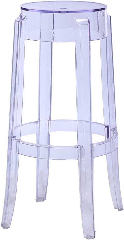 CJH Plastic Kruk Transparant Dikke Acryl Eetstoel Crystal Kruk Bar Kruk Thuis Stoel Creatieve Hoge Kruk Helder