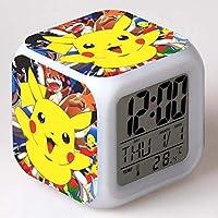 XINKANG Pokemon wekker Pokemon Go wekker Pikachu kleurrijke Pokemon wekker creatief cadeau.
