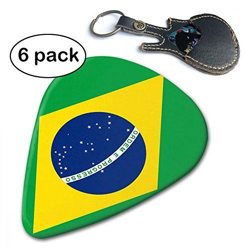 - Janvonne Bandanas Flag Of Brazil 351 Shape Classic Celluloid Guitar Picks For Guitar Bass - 6 Pack .96mm