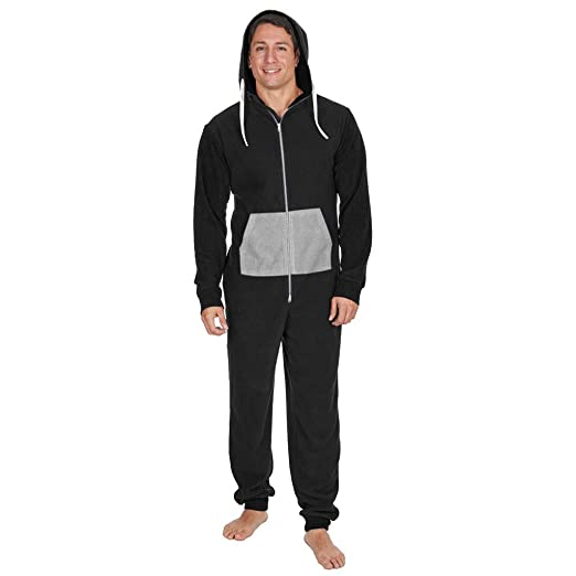 2548b8555 Amazon.com  Mens Boys Onesie Casual Soft Fleece Hooded All in One ...