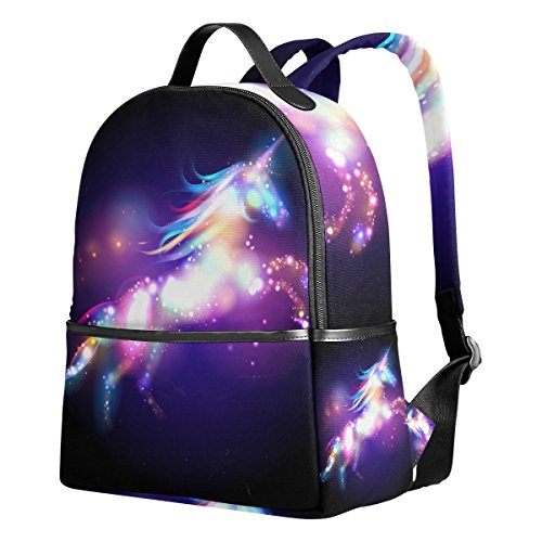 JSTEL Unicorn Magic Stars School Backpack 2th 3th 4th Grade for Boys Teen Girls