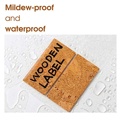 DigitalLife Removable No-Trace Natural Wooden Kraft Stickers - Water-Proof Adhesive Labels for Crafts/Jars, Name/Price Tag [Cheese, 1.5cm x 3cm, 64pcs]