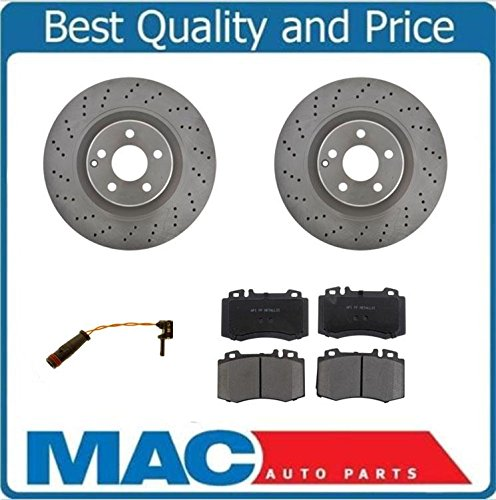 Mac Auto Parts 36665 CL55 AMG CL6 S55 AMG S6 Mercedes (2) Front Brake Rotors & Brake Pads & (S55 Amg)