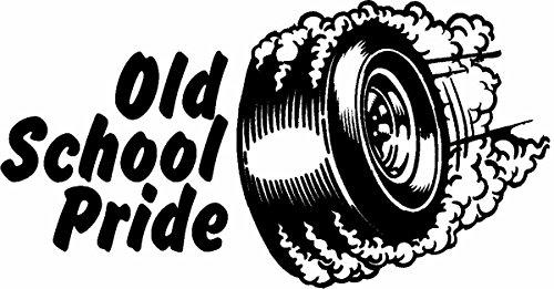 Jonas Trading MAGNET Old School Pride Rat Rod Hot Rods Muscle Car Vintage Performance Sticker Hot Rod Car