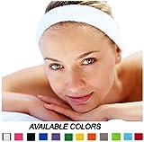 Kenz Laurenz 12 Sweatbands Cotton Sports Headbands