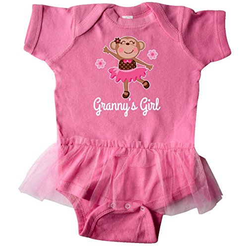 inktastic Granny Girl Ballerina Infant Tutu Bodysuit 12 Months Raspberry (Ballerina Onesie Dress)