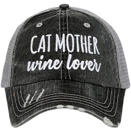 - Katydid Cat Mother Wine Lover Trucker Hat