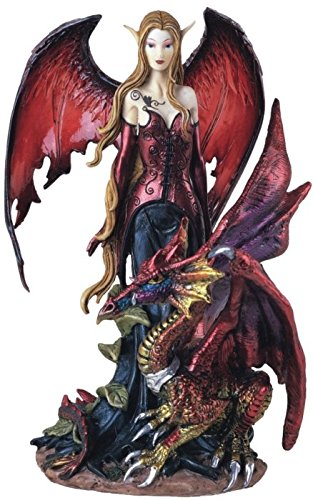 George S. Chen Imports Fairy Collection Pixie with Dragon Fantasy Figurine Figure Decoration (SS-G-91277)