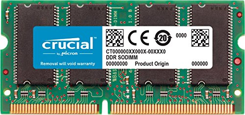 Dimm Non Ecc Unbuff Module - Crucial 1GB Single DDR 400MHz (PC3200) CL=3 200-Pin SODIMM Notebook Memory Upgrade - CT12864X40B