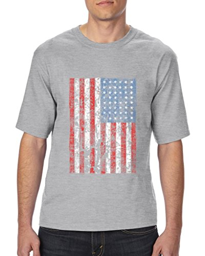 Xekia United States of America Flag Vintage US Flag Unisex T-Shirt Tall Sizes X-Large Tall Charcoal