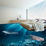 LHDLily 3D Wallpaper Mural Wall Sticker Thickening Custom Photo Floor Thicker Waterproof Wear Resistant Pvc Floor Painting Placement Underwater Floor Decoration 350cmX250cm