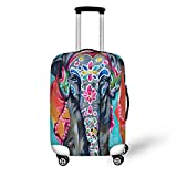 Cheap FOR U DESIGNS 26-30 Inch Large Funny Elephant Print Elastic Luggage Cover Case Protector for Women