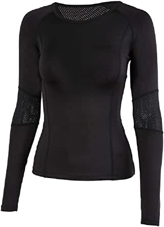 Lemedy Women Yoga Active Long Sleeve Sports Running Top Workout Leisure T-Shirt
