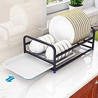 Yisily 50x34cm Escurreplatos sobre Sink Enrollable Secado Estante para Platos De Acero Inoxidable 304 Multiprop/ósito Encimera Drenaje Mat