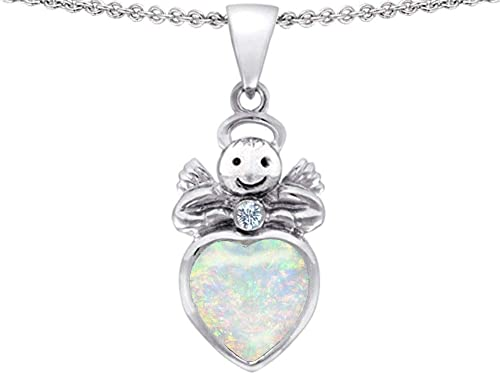 """925 solid sterling silver small 10mm  /""""angel/"""" pendant and necklace with gift box"""