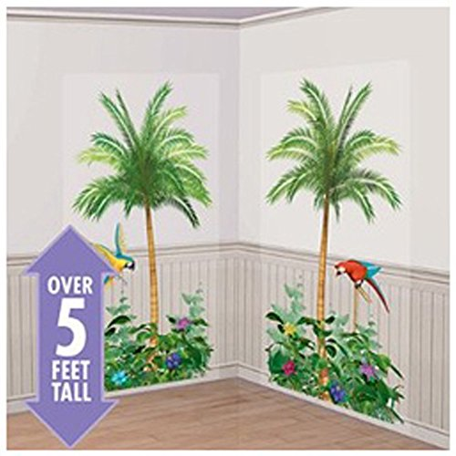 Palm Trees Scene Setter Wall Decorations (2pc) -