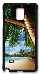 Super Samsung Galaxy Note 4 Case Tropical Palm Tree Ocean Beach DIY Hard Shell Best Designed