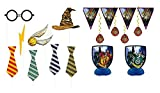 Harry Potter Children's Birthday Party Supply Set Includes 7 pc Decoration Kit and 8 pc Photo Props