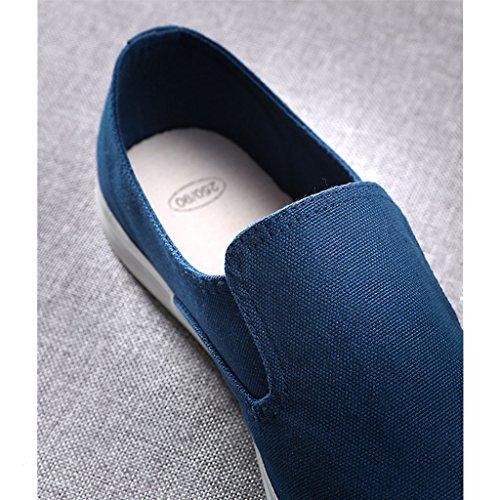 SHOP traspirante deodorante Blu estate maschile scarpe SHI scarpe panno XIANG tela casual giovani di shoes Pechino di LI pigri versione da scarpe canvas Vecchie uomo coreana OEBwwfq4