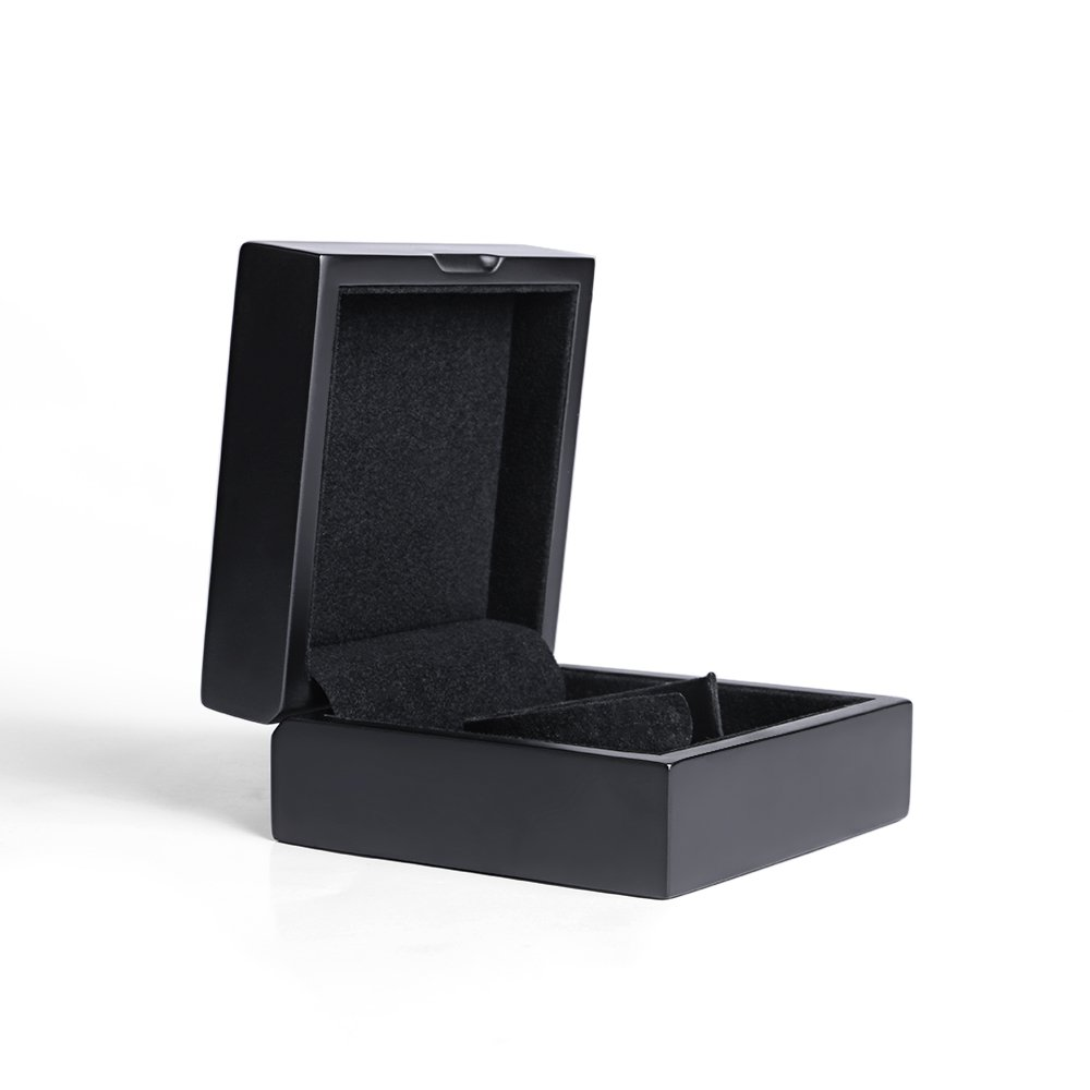Olymbros Wooden Decorative Jewelry Gift Boxes with Velvet Interior for Bracelet,Black